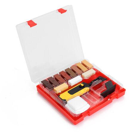 Kit de réparation de stratifié, système de cire, plan de travail au sol, puces d'enveloppe robuste, rayures, ensemble d'outils de réparation, kit d'outils à main
