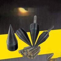 42mm fendeuse de bûches fendeuse à bois perceuse robuste perceuse vis cône conducteur feu fendeuse de bûches à bois fendage cône de bois peu (grand)