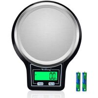 Balance de Cuisine avec écran LCD Haute précision en Acier Inoxydable 5 kg/0,1 g