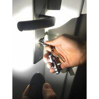 Pack de 2 alarme de poche, auto-défense, sirène 140 dB, lampe LED (noir)