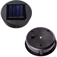 2 Pièces Haut de remplacement Lumière solaire pour Lantern Panneau solaire Couvercle de lumière avec une ampoule LED,Lanterne solaire bricolage pour décor de jardin extérieur