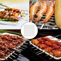 Brochettes de Barbecue en Acier Inoxydable, 50 Pièces 35cm Brochettes à Viande en Acier Inoxydable, Durable et Réutilisable, pour Barbecue, Viande, légumes
