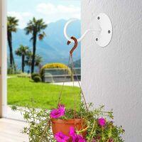 Crochets muraux 4 pièces en métal Crochets de plafond à montage mural Plantes Crochets Swag Cintres de plafond robustes avec vis pour suspendre des paniers de plantes, lanternes, carillons éoliens, décorations extérieures