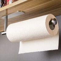 Porte-rouleau de papier essuie-tout - Sans perçage - En acier inoxydable brossé