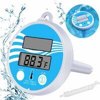 Thermomètre de Piscine à énergie Solaire Thermomètre numérique Flottant Piscine d'eau de Mesure de température Spa étang Température pour Bain Numérique