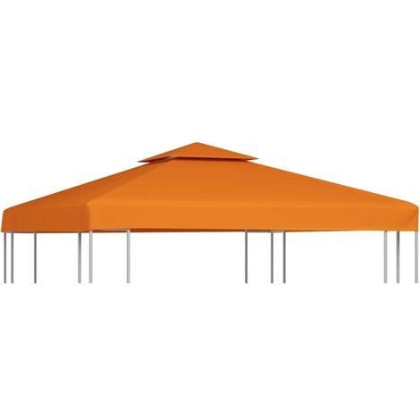 Gazebo Cover Canopy Replacement 310 g / m Terracotta 3 x 3 m - Orange