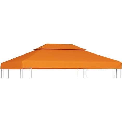Gazebo Cover Canopy Replacement 310 g / m Terracotta 3 x 4 m - Orange
