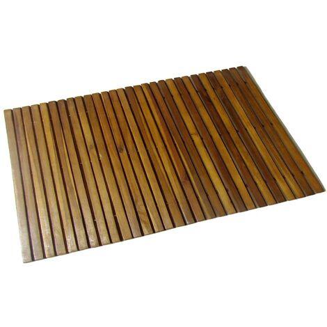 Acacia Bath Mat 80 x 50 cm - Brown