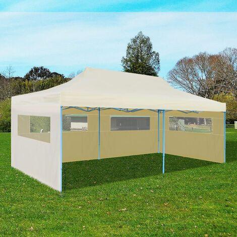 Cream Foldable Pop-up Party Tent 3 x 6 m - Cream