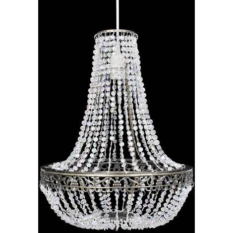 Crystal Pendant Chandelier 36,5 x 46 cm - Transparent