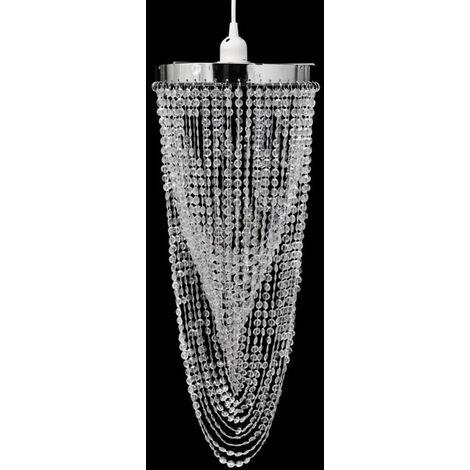 Crystal Pendant Chandelier 22 x 58 cm - Transparent