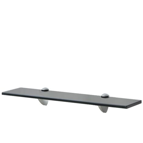 Floating Shelf Glass 50x10 cm 8 mm - Black