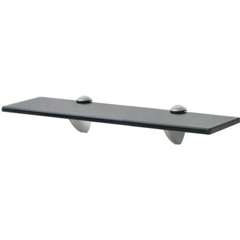 Floating Shelf Glass 40x20 cm 8 mm - Black