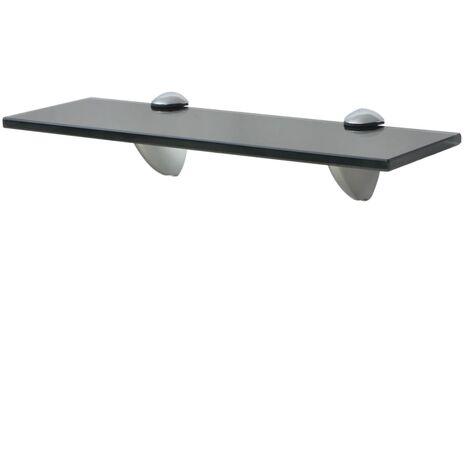 Floating Shelf Glass 30x10 cm 8 mm - Black