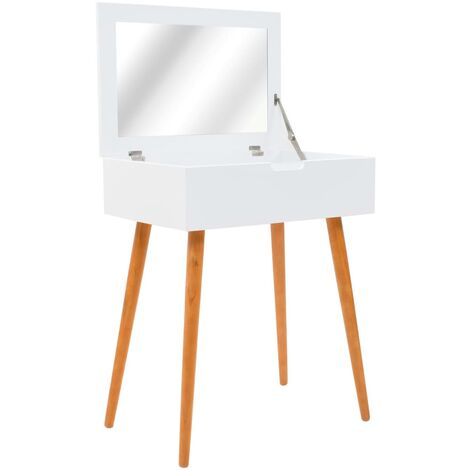 Dressing Table with Mirror MDF 60x40x75 cm - White
