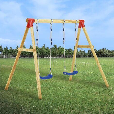 Swing Set 230x130x166 cm Pinewood - Brown