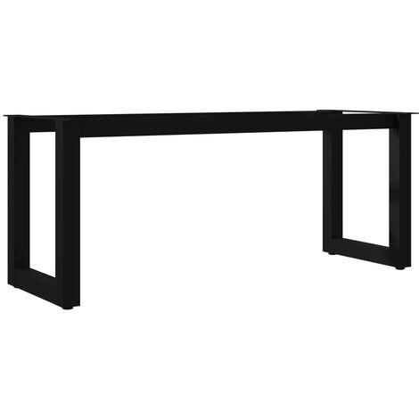 Bench Leg O Frame 105x36x42 cm - Black