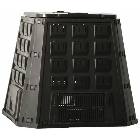 Nature Compost Bin Black 400 L 6071480 - Black