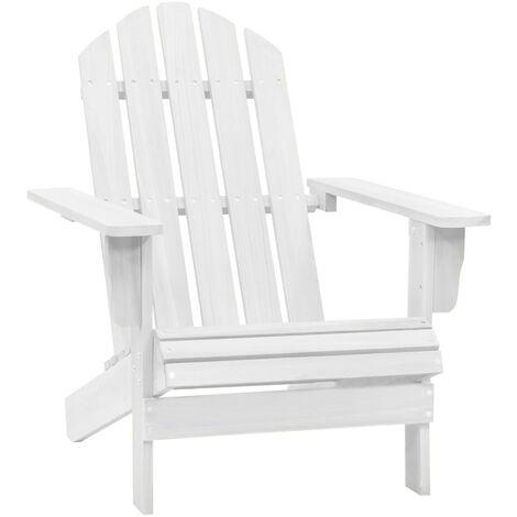 Garden Chair Wood White - White