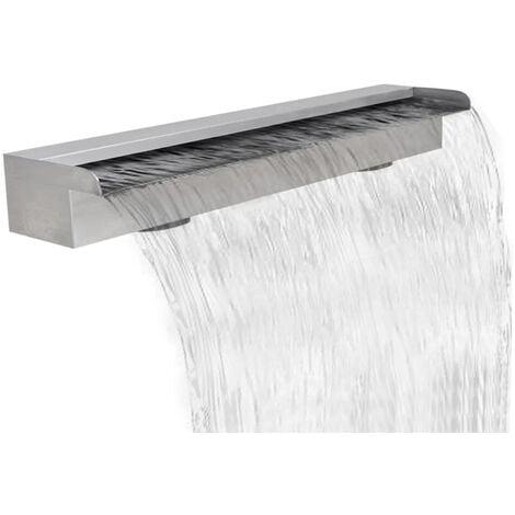 Rectangular Waterfall Pool Fountain Stainless Steel 90 cm