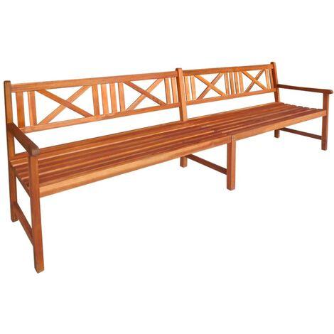 Garden Bench 240 cm Solid Acacia Wood - Brown