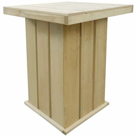 Bar Table 75x75x110 cm Impregnated Pinewood - Brown