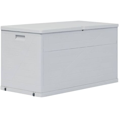 Garden Storage Box 420 L Light Grey - Grey