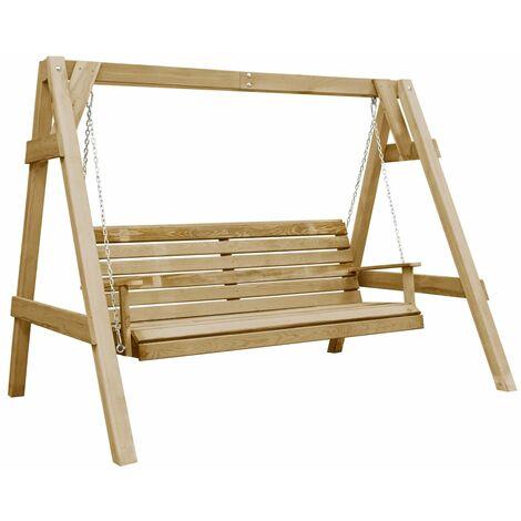 Garden Swing Bench Impregnated Pinewood 205x150x157 cm - Green
