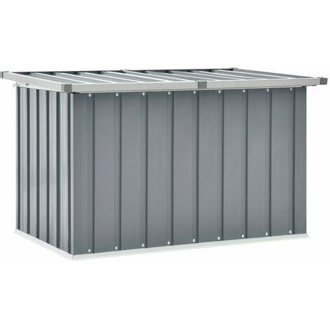 Garden Storage Box Grey 109x67x65 cm - Grey