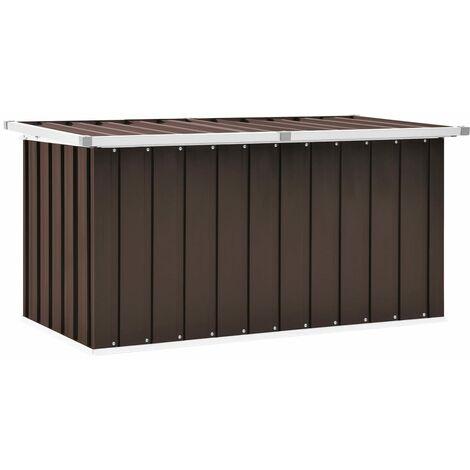 Garden Storage Box Brown 129x67x65 cm - Brown