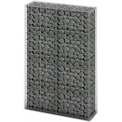 Gabion Basket with Lids Galvanised Wire 150 x 100 x 30 cm - Silver