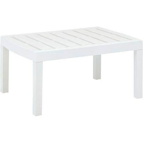 Lounge Table White 78x55x38 cm Plastic - White