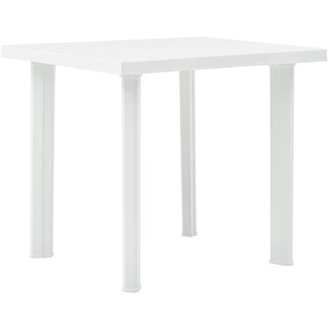 Garden Table White 80x75x72 cm Plastic - White