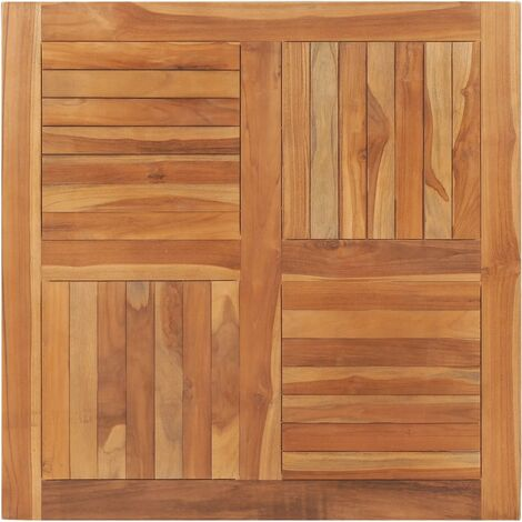 Table Top Solid Teak Wood Square 90x90x2,5 cm - Brown