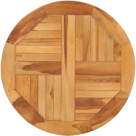 Rotating Table Disk Solid Teak Wood - Brown