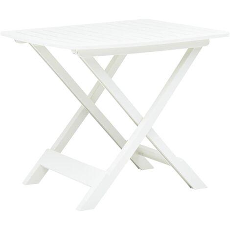 Folding Garden Table White 79x72x70 cm Plastic - White