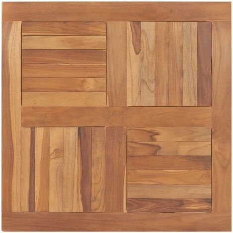 Table Top Solid Teak Wood Square 80x80x2,5 cm - Brown