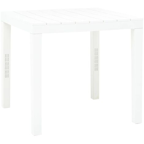 Garden Table White 78x78x72 cm Plastic - White