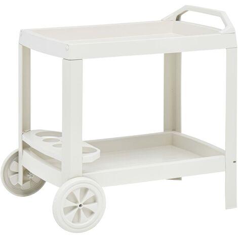 Beverage Cart White 69x53x72 cm Plastic - White
