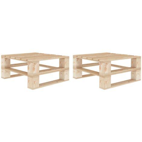 Garden Pallet Tables 2 pcs Wood - Brown