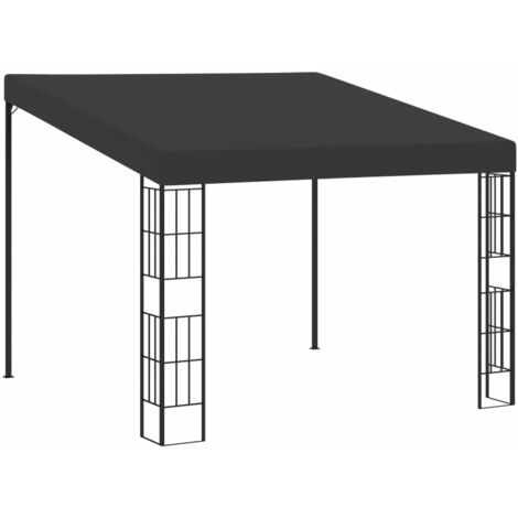 Wall-mounted Gazebo 3x3 m Anthracite Fabric - Anthracite