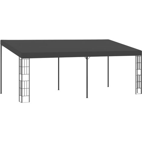 Wall-mounted Gazebo 3x6 m Anthracite Fabric - Anthracite