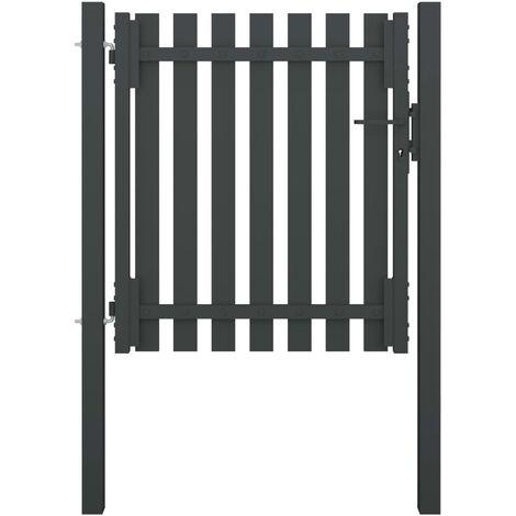 Garden Fence Gate Steel 1x1.25 m Anthracite - Anthracite