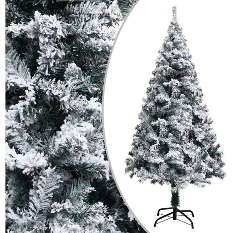 Artificial Christmas Tree with Flocked Snow Green 150 cm PVC - Green