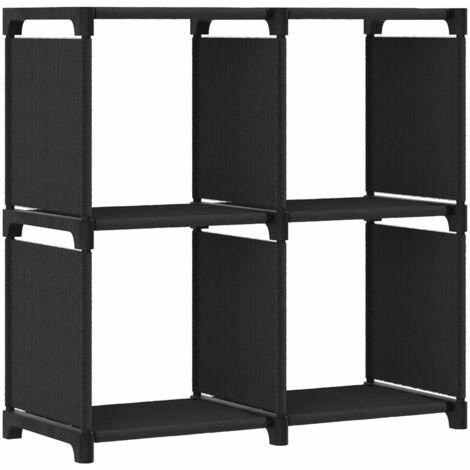 4-Cube Display Shelf Black 69x30x72.5 cm Fabric - Black