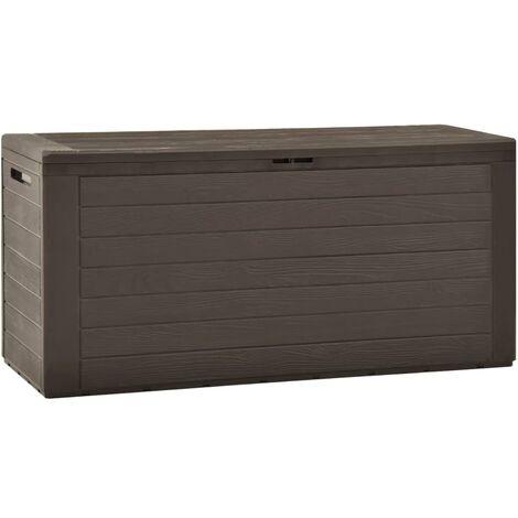 Garden Storage Box Brown 116x44x55 cm - Brown