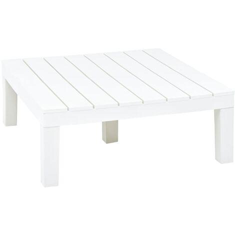 Garden Table White 78x78x31 cm Plastic - White