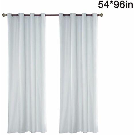 Outdoor curtain water-repellent 1 piece loop curtain white transparent outdoor curtain for balcony / terrace, 137 * 244 cm (54 * 96 inches)