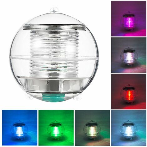 1pcs Solar Waterproof Pool Lights Floating Night Light with Color Changing for Swimming Pool Pond Fountain Garden Party Home Decor, round ball shape