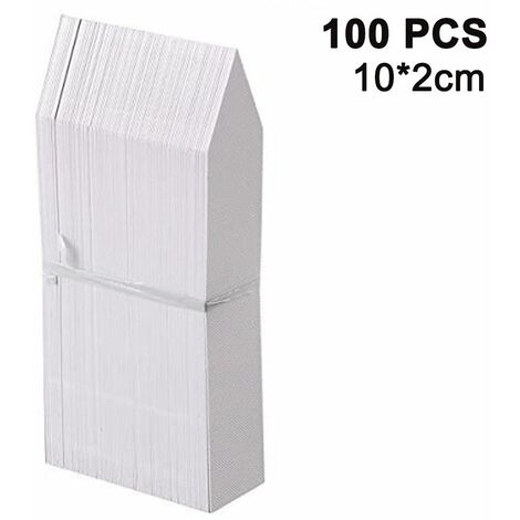 100 Packs Plant Labels Stake-Type Tags Plastic Garden Labels Nursery Tags for Flowers, Vegetables, Seedlings, Seed, white